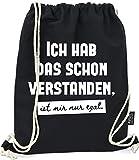 Hashtagstuff® Turnbeutel mit Sprüchen Designs auswählbar Kordel Schwarz Spruch Rucksack...