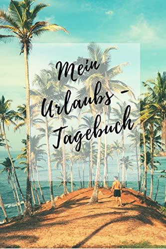 Mein Urlaubs - Tagebuch: Notizbuch A5 liniert mit Punkten Dot Grid (6x9) für die Reise, den Strand-Urlaub / modisches Tagebuch und Logbuch 108 Seiten