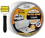 Ziollo RV Flex Repair Tape - Roof Seam Tape to Seal and Waterproof, Bond to EPDM Rubber with Butyl Sealant, Seal Vents and Skylights on Motorhomes, Trailers, Campers (White, 4-inch x 50 Foot Roll)