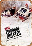 Treasun Metal Sign - Vintage Look 1968 Evinrude Skeeter Snowmobiles 8 x 12 Inches