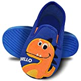 Kids Toddler House Slippers Warm Bedroom Shoes Anti-Slip Cotton Shoes for Boys Girls Indoor & Outdoor