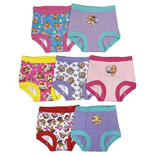 Nickelodeon Toddler Paw Patrol Girls 7 Pack Training Pants, Assorted, 4T