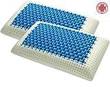 Marcapiuma, Mod. Blue Air Massage, 2 orthopädische Kopfkissen aus Memoryschaum, Ultra atmungsaktiv,...