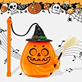 Techgomade Linterna de Calabaza de Halloween, Decoración de Fiesta de Halloween, Iluminación con Música, Equivalente a 2W 15W, 30 Lm, No Regulable, Regalos de Celebración de Festivales Para Niños