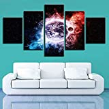 Rudxa Lienzo Arte de la Pared Cosmic Planet Earth Picture Paisaje Natural Poster Set Decoración para el hogar Pintura para Sala de Estar -5 Piezas sin Marco