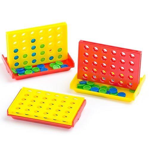 """Baker Ross Minispiel """"Vier gewinnt"""" - Spielzeug für Kinder zum Kindergeburstag und unterwegs - 6 Stück"""