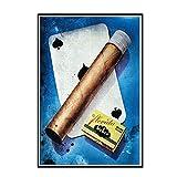 Swarouskll Carteles de cigarros de la Habana Vintage pintura en lienzo arte de pared decoración moderna para el hogar imágenes dormitorio para sala de estar -50x70cm sin marco 1 piezas