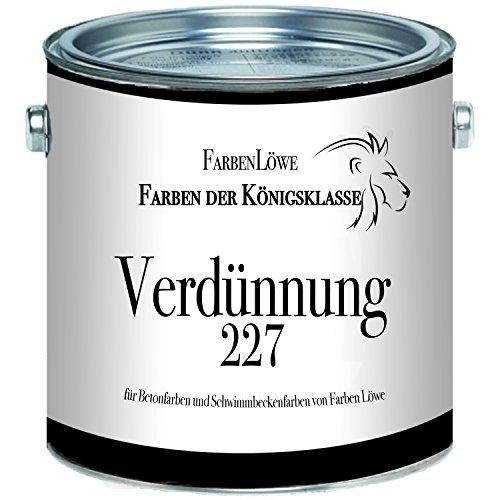 Farben Löwe Verdünnung 227 - Spezialverdünnung extra für Betonfarben und Schwimmbeckenfarben von Farben Löwe (1 L)