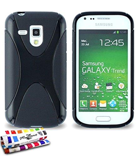 Muzzano F18897 - Funda para Samsung Galaxy Trend, color negro