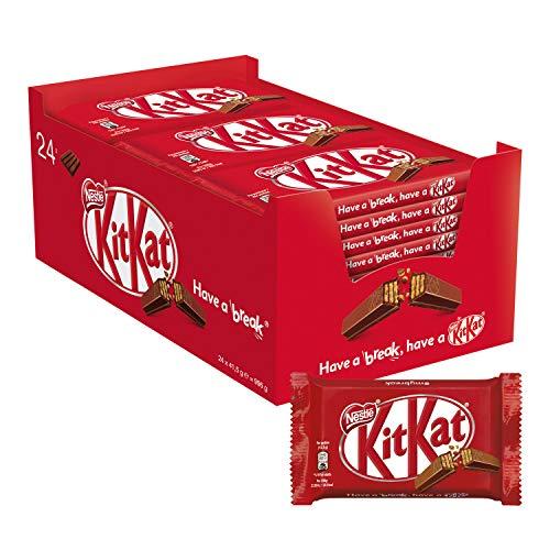 KitKat Original Wafer Ricoperto di Cioccolato al Latte, Confezione da 24 Snack