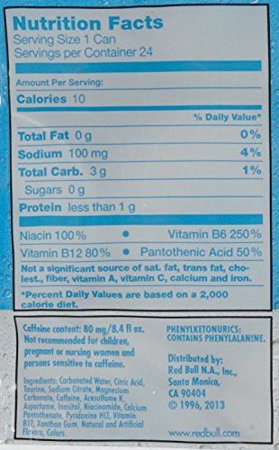 Red Bull Energy Drink, Sugar Free, 8.4 oz, 24 ct