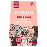 Scrumbles Natural Dry Food, Grain Free Recipe with Fresh Salmon, for Adults and Senior Breeds, 2 kg Bag