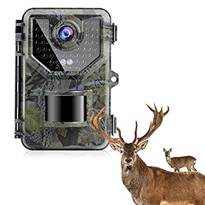 "?2021 Upgrade? 1080P Up to 2.7K ,20MP Trail Camera Game Cameras Hunting Camera, IP66 Waterproof with 940nm No Glow Night Vision, 2.4"" LCD 120°Detecting Range 0.2s Trigger Time Newest Sensor from SESERN"