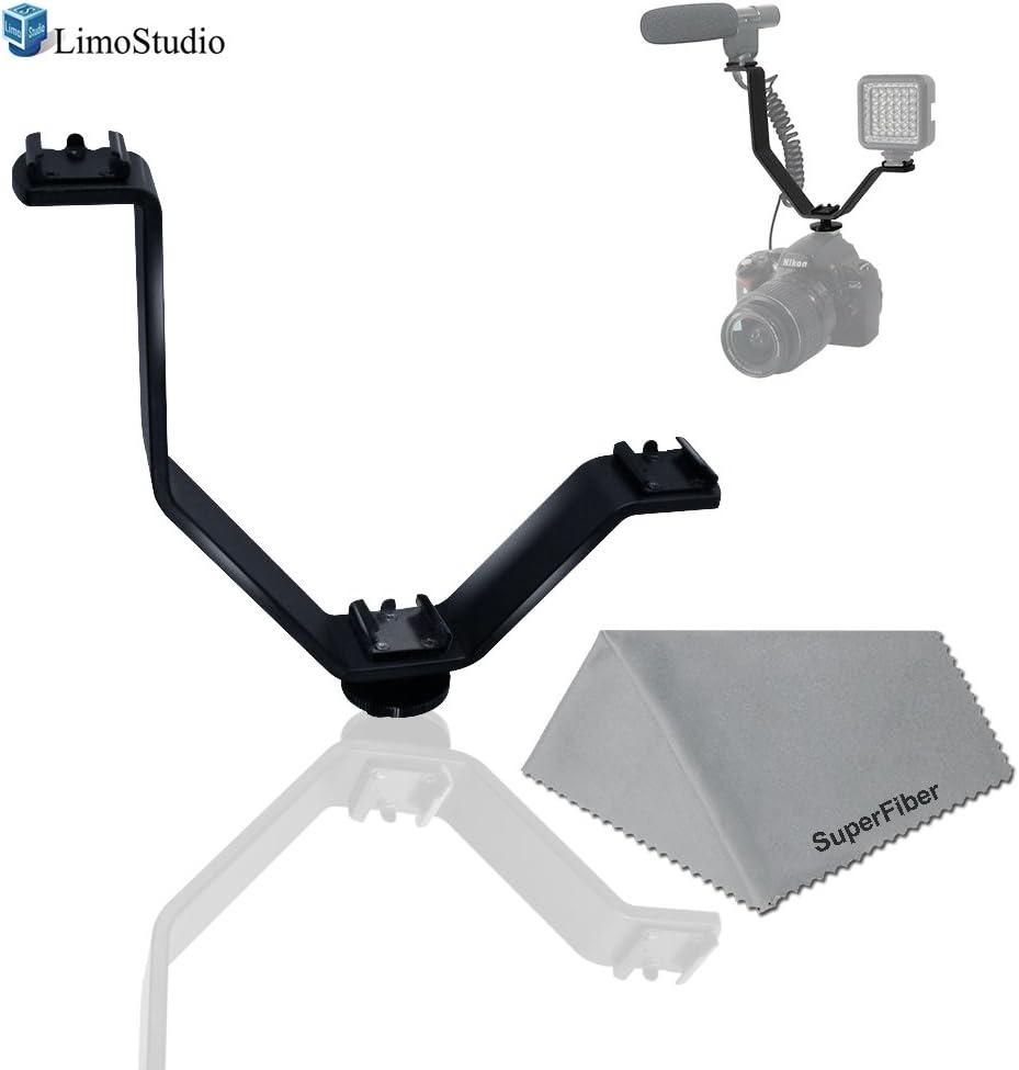 LimoStudio Cold Shoe Mount Store V Shape Ligh Camera for lowest price Video Bracket