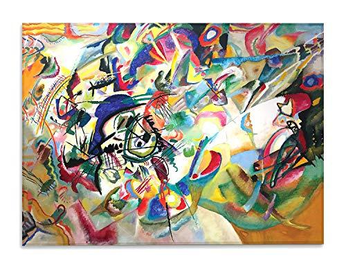 Giallobus - Quadro - Kandinsky - Composizione n. 7 - Stampa su su Vetro Acrilico plexiglass - Pronto da Appendere - Vari Formati - 140X100 cm