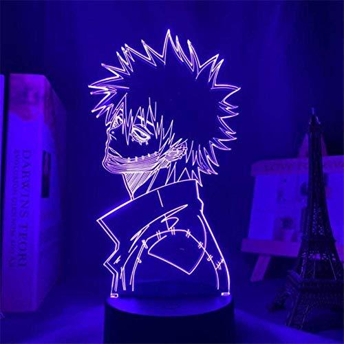 3D-Illusionslampe Führte Nachtlicht Kinder My Hero Aacademia Ddabi Für Kinder Schlafzimmer Dekoration Schreibtischlampe Beste Geburtstags-Weihnachtsgeschenke Für Kinder