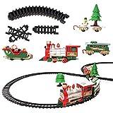 Elektrische Eisenbahn Set - 22 Teile, ideal für Weihnachtsgeschenke, beliebtes Kinderspielzeug, mit realistischen Geräuschen Spielset Züge und Schienfahrzeuge.