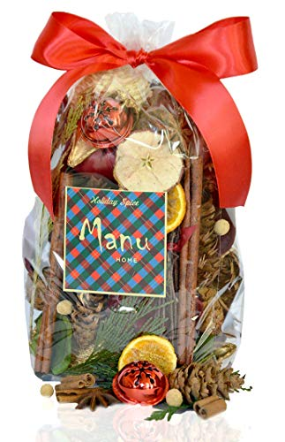 Manu Home Holiday Spice Potpourri ~ Enjoy a Blend of Red Currant, Evergreen and Juniper with a hint of Cinnamon ~ Made in The USA!