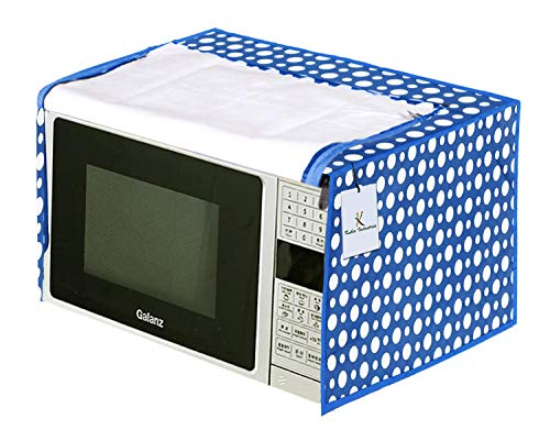 Kuber Industries Polka Dots Design PVC Microwave Oven Full Closure Cover for...