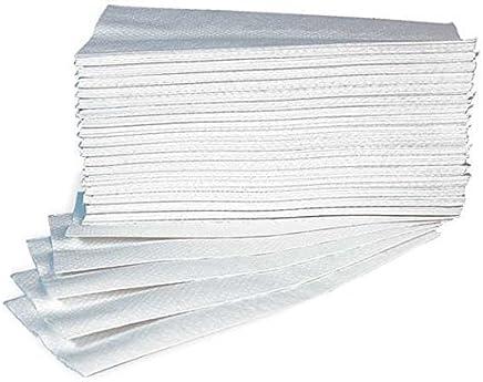 Asciugamani Carta Monouso Per Dispenser - Piegati a Z - Microgoffrato - Pura Cellulosa Interfoil - N. 25 Conf. da 150 pz