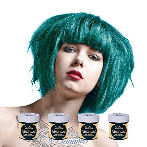 La Riche Directions Haarfarbe 4er Pack (Türkis - Turquoise) Inklusive einem Blue Banana Haarfärbepinsel