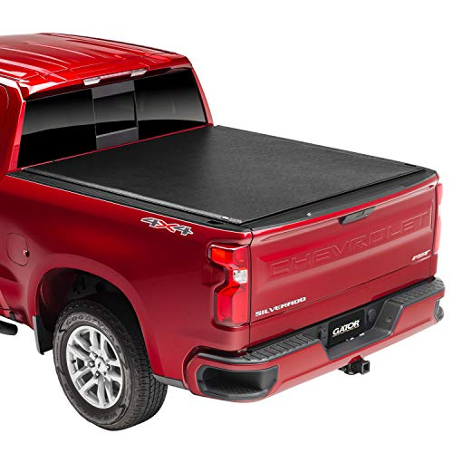"Gator ETX Soft Roll Up Truck Bed Tonneau Cover | 53110 | Fits 2014 - 2018, 2019 Ltd/Lgcy GMC Sierra & Chevrolet Silverado 1500 6' 7"" Bed (78.9'')"