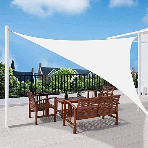 XRDSHY Sonnensegel Sonnenschutz Wasserdicht,95{831d8767e8ed8485aa04af3cd5dd2bb43814f7374cfed2eec8722b53d7382ef3} UV Block Dreieck Winddicht Schattenspender, Carport Und Pergolaabdeckung Für, Garten, Terrasse, Balkon Und Camping,White-3.6x3.6x3.6m