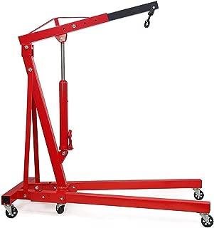 Red Storeinuk 2 Ton Hydraulic Folding Engine Crane Stand Hoist Lift Jack with Wheels Workshop Hydraulic Use