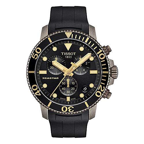 Tissot Seastar 1000 C Reloj cronógrafo de cuarzo con esfera negra para hombre T120.417.37.051.01