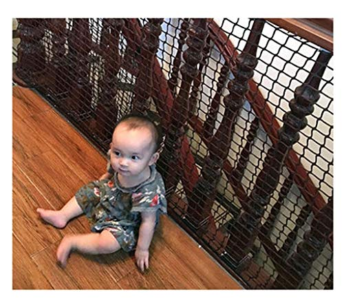 Review Stairs Net,Balcony  Netting Black Stair Net Kids Safe Cat  Safety Fence Railing Rail Door ...