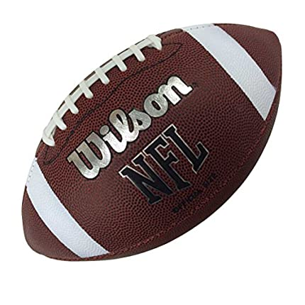Wilson WTF1858XB Pelota de fútbol Americano NFL Bulk Cuero Compuesto para Juego recreativo, Unisex-Adult