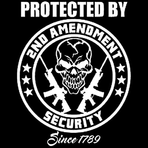 CAOPEIHE 12,5 cm x 15,5 cm vinilo de seguridad pegatinas parachoques adhesivo doméstico coche negro pistola (color: blanco)
