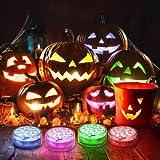 Ruyilam Halloween Pumpkin Lights, 4 Pack 16 Color Changing LED Pumpkin Lights...