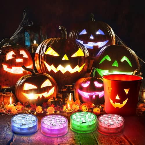 Ruyilam Halloween Pumpkin Lights, 4 Pack 16 Color Changing...