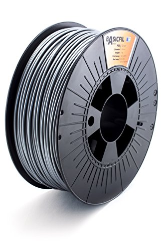 BASICFIL PET 2.85mm, 1 kg, 3D printing filament , Silver
