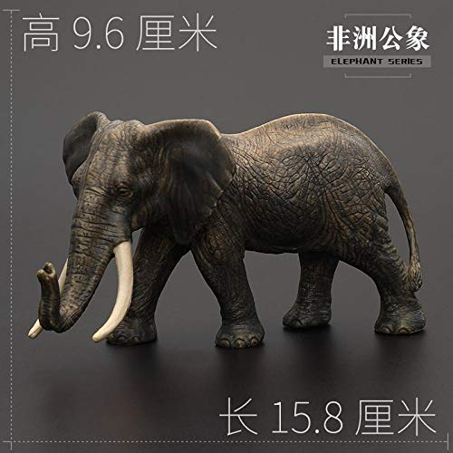 Review N/ A Children Animal Toy Animal Model Set Large Solid Elephant African Elephant Asian Elephan...