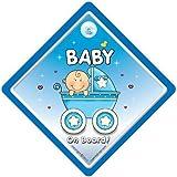 Baby On Board, petit-enfant à bord, panneau pour voiture, poussette, bleu, 2, Baby...