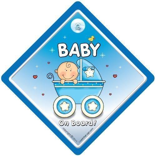 Baby On Board, petit-enfant à bord, panneau pour voiture, poussette, bleu, 2, Baby on Board, Bébéà Bord, Panneau pour voiture Bébé Garçon, signe, bébé garçon sur planche
