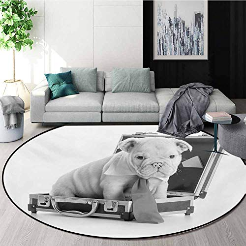 Buy RUGSMAT English Bulldog Dining Room Home Bedroom Carpet Floor Mat,Tie Wearing Puppy Sitting Insi...