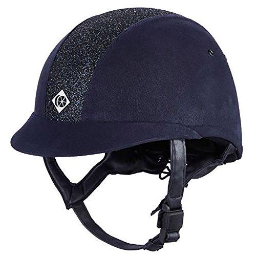 Charles Owen Leather Look eLumen 8 Riding Hat 56cm Navy Sparkly