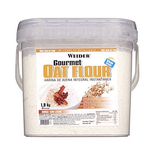 Weider Oat Gourmet Farina Integrale di Avena, Sapore Riso e Latte - 1.9 kg