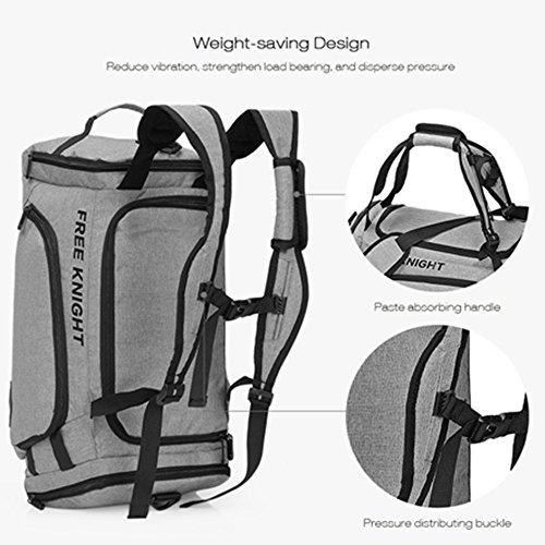 Hulorry Foldable Travel Bag for Men/Women, Duffel Bags Shoulder Bag Lightweight Large Multifunctional Waterproof Outdoor Sports Handbag for Luggage Gym Climbing Hiking Camping