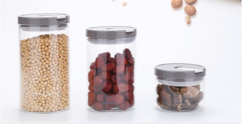 AISSION KITCHEN Storage Jar Container Aufbewahrungsboxen, Körner aus Glas versiegelte versiegelte versiegelte Behälter Dichtung Pot Food Storage jar Sugar Bowl kopfüber in der Küche Kanister, 3er-Set B06XHFVQJF 45da55