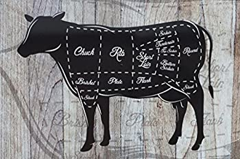 Cuts of Beef Butcher Shop Diagram Cow Diagram Sign Cow Pictures Wall Decor Fun Cow Pictures Cow Skull Picture of a Cow Prints Wall Art Cow Print Wall Decor Cool Huge Large Giant Poster Art 54x36
