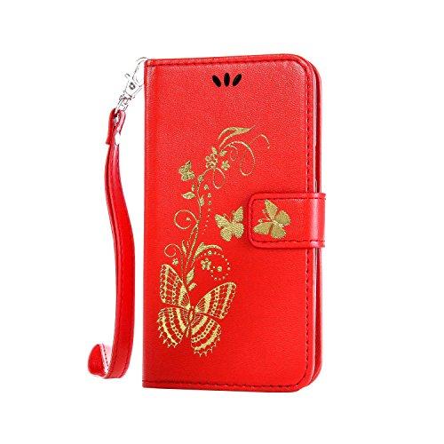Coozon Premium PU Leder Hülle Ledertasche Flip Schutzhülle Tasche mit St?nderfunktion & Kartenf?cher Für Huawei Ascend Y560 (4.5 Zoll)
