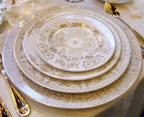 Versace Medusa Gala - Juego de 24 platos (6 platos de 33 cm, 6 platos de 27 cm, Medusa Gala, 6 platos de 22 cm, Medusa Gala, 6 pisos de 18 cm)