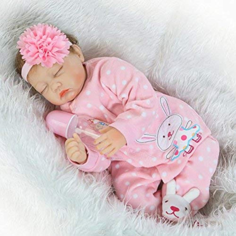 ZIYIUI Handgemachte 55 cm 22 Zoll weiche Silikon Vinyl Reborn Baby Puppe realistische Neugeborenen Schlaf Mdchen lebensechte Kind