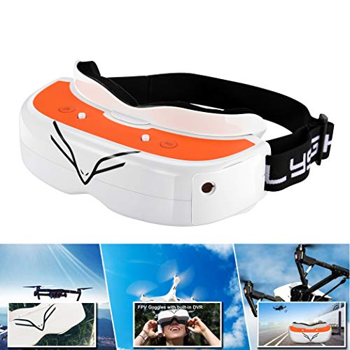 FPV Goggles Flysight Falcon FG02 Wireless RC Drone Video Goggles with DVR HDMI In and Custom Receive Module For Racing Drones DJI Phantom Compatible Besides Fatshark RunCam Goggles