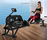 LeeBZ Rudermaschine Indoor Fitness Equipment Fitness Cardio Workout Wasserwiderstand Rudermaschine - 2