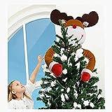 Qianning Decoración para árbol de Navidad con diseño de reno – Navidad, vacaciones, invierno, para fiestas